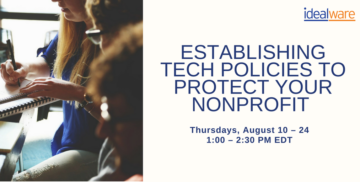 Establishing Tech Policies to Protect Your Nonprofit