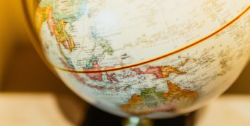 An image of a globe