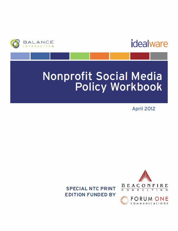 The Nonprofit Social Media Policy Workbook Idealware – Social Media Policy