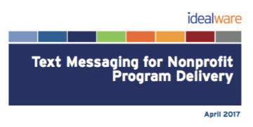 Text Messaging for Nonprofit Program Delivery